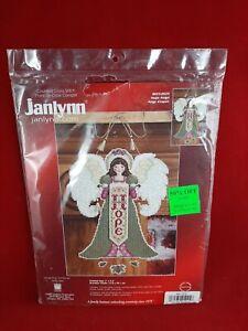 Janlynn Hope Angel Christmas Ornament Plastic Canvas Counted Cross Stitch Kit
