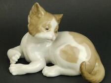 Lladro Spain Domestic Animals Light Brown Surprised Cat 5114 Figurine Figure
