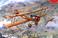 Roden 411 - Sopwith 1.B1 French Bomber  - 1/144 scale model airplane kit 289 mm