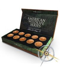 AMERICAN WILDLIFE SERIES 10 ROUNDS IN CASE COPPER CU SIGNED SEALED COA 777