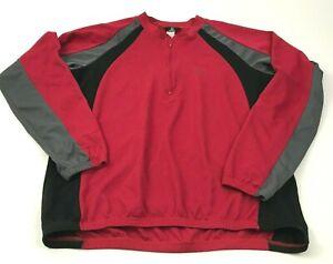 Vintage Canari Bike Jersey Size Size Extra Large Red Shirt Long Sleeve 1/4 Zip