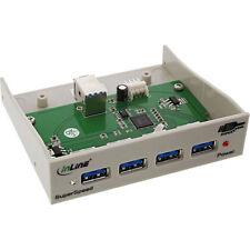 """InLine - USB 3.0 Super Speed Hub, 4 x hotel sulla 8,89cm (3,5 """") alloggiamento,"""