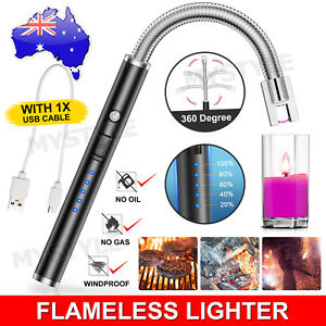 Plasma ARC Flameless USB Lighter BBQ Windproof Kitchen Candle Rechargeable