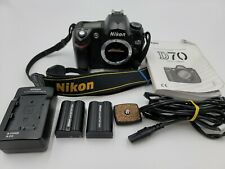 Nikon D70 6.1MP Digital SLR DSLR Camera Body With Charger / Batteries / Guide