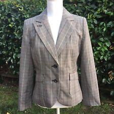 Chadwicks Plaid Blazer, gray, Size 8
