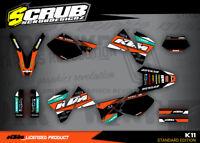 KTM dekor EXC 125 200 250 300 380 400 520 1998 2002 '98 '99 '00 '01 '02 grafik