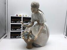 Lladro Nao Figur Mädchen mit Tulpen 25,5 cm 1 Wahl Top Zustand