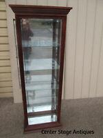58940 PULASKI Cherry China Cabinet  Curio with 4 Side Doors  No. 0219