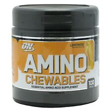 Optimum Nutrition Amino Chewables 100 Tablets Lemonade