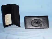 MONTREAL CANADIENS   Leather Checkbook NEW   black +