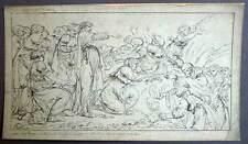 LA RESURRECTION DE LAZARE gravure originale de PARIZEAU 1783 tres rare planche