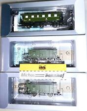 Tillig 01014 Train de Secours 3tlg Personnes + 2 Flachdachwagen Ep3 TT 1:120 Neu