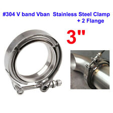 "3"" inch Stainless Steel #304 V band Vban Clamp with 2Pcs Flange Turbo Exhaust"