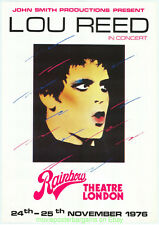 LOU REED Fan created fake !!! CONCERT PROMOTIONAL POSTER 1976 RAINBOW THEATRE UK