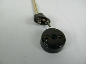 alter Gerätestecker Steckdose Dose Verbinder Kabel Bakelit Stecker