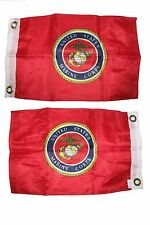 12x18 Marines USMC Marine Corps Red 2 Faced 2-ply Wind Resistant Flag 12x18 Inch