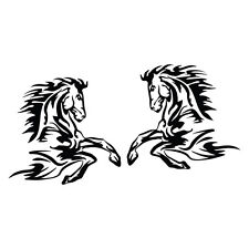 2X HORSE FLOAT TRAILER Sticker Decal Outback 4x4 Ute Country Aussie #6942EN