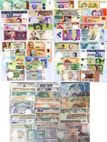 WORLD BANKNOTES SET 70 PCS LOT DIFFERENT NOTES ALL UNC