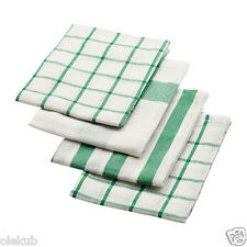 Ikea Elly Dish Towel 4 Pack White Green Kitchen Hand Towel Decor 402.777.65