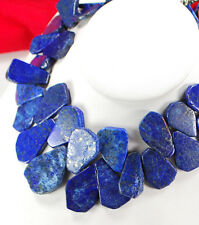 "NY6DESIGN Blue Lapis Lazuli Nugget Silver Huge Necklace 18"" for gift ideas!"