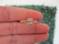 .12 CTW Diamond Ring 14k White and Yellow Gold JS97R sep