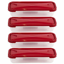 Set di 4 cm lungo BACON FOOD Storage scatole contenitori rettangolari pesce FRIGO