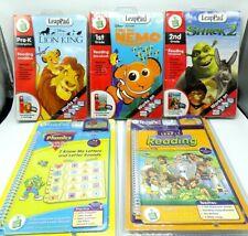 Leap Pad Interactive book lot of 5:Disney Lion King, Finding Nemo, Shrek Phonics