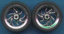 Pegasus 1246 x 1/24-1/25 Diablos Chrome Rims w/Tires (4)