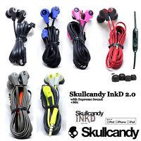 OEM Skullcandy Ink'd 2.0 Earbuds Headphone Wired W/Mic Remote Black Red Blue