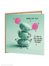 Brainbox Candy funny humour 'Stay Still Macaroons' cute quirky birthday card