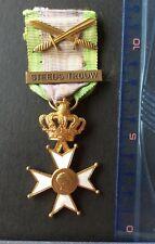 Belgique - Superbe Médaille des Vétérans  Léopold III - Barrette «Steeds Trouw