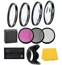 55mm Macro Closeup & Filter Kit For Sony Alpha a7 II, A7III with 28-70mm Lens