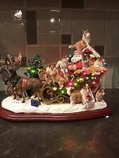 Danbury Mint Sheltie Christmas Sleigh Shetland Sheepdog - Rare