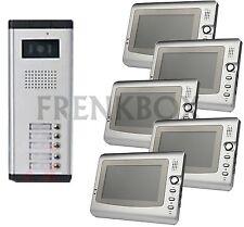 kit videocitofono per condominio condominiale: 5 monitor e Telecamera 5 tasti
