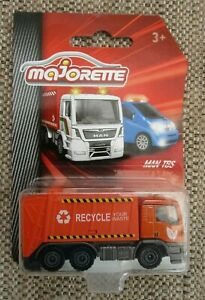 Majorette City MAN TGS Refuse Recycling Lorry Diecast 1:64 Scale New Sealed