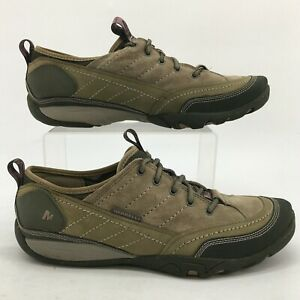 Merrell Mimosa Lace Sneakers Womens 10 Dusty Olive Suede Low Top Comfort J68170