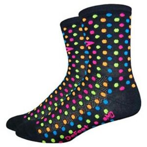 DeFeet Aireator Spotty Black Small Cycling Socks