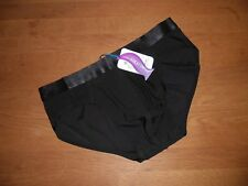 Mens X Large Seamless Second Skin Satin Ice Silk Black Briefs Lingerie UK