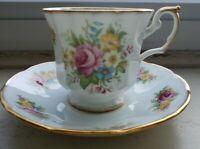 Vintage Elizabethan Fine Bone China- Cottage Rose- England. Tea Cup and Saucer.