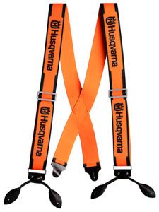 Genuine OEM Husqvarna 596280610 Orange Suspenders Button Leather Braces Straps