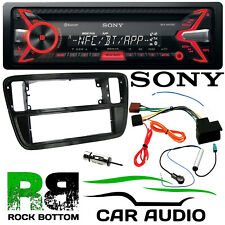 VW UP! 2011 On SONY Bluetooth CD MP3 USB AUX iPhone Car Stereo & Fascia Kit