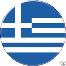 5 x sticker 5cm auto moto velo valise pc portable drapeau Rond Grèce Greece