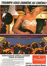 Publicité  Print AD 1984  Lingerie Triumph soutien gorge slip femme collection
