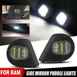 White LED Under Side Mirror Puddle Lights For Dodge RAM 1500 2500 3500 4500 5500