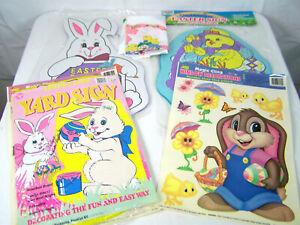 Easter Yard Signs & Window Stickers Lot Mello Smello Company BOOKS