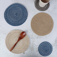 Table Mats Coasters Hot Pad Round Table Mat Stand for Mugs Anti Slip Drink WH