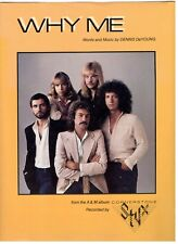 """STYX """"WHY ME"""" SHEET MUSIC-1979-PIANO/VOCAL/GUITAR/CHORDS-RARE-BRAND NEW ON SALE!"""
