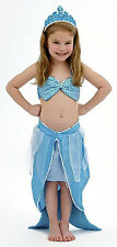 NEW Girls Kids Mermaid Costume Cosplay Sparkle Turquoise  Large