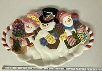 Fitz And Floyd Classics Frosty Folks Serving Platter Christmas Snowman Decor