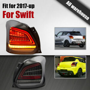 VLAND Taillights Full LED DRL Dynamic Clear Lens For 2017-Present Suzuki Swift